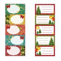 Vánoční jmenovky na dárky TORO 5 samolepek MIX