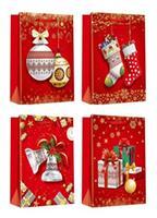 Papírová dárková taška TORO 15x14x6cm vánoční MIX