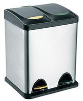 Nerezový nášlapný odpadkový koš na tříděný odpad TORO 16l