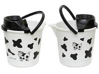 Plastový kbelík se ždímadlem 12l, kráva