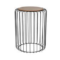 Dřevěný odkládací stolek TORO 43x51cm