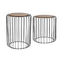 Dřevěný odkládací stolek TORO set 2ks