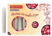 Vánoční svíčka 10cm PROVENCE 20ks bílá
