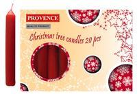 Vánoční svíčka 10cm PROVENCE 20ks červená