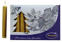 Vánoční svíčka 10cm PROVENCE 20ks zlatá