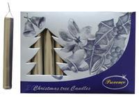 Vánoční svíčka 10cm PROVENCE 20ks stříbrná