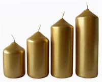 Adventní svíčka ø4cm PROVENCE 4 velikosti zlatá