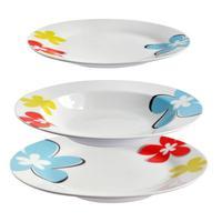 Talíř polévkový, porcelán, motiv květy