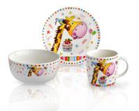 Dětská porcelánová snídaňová sada TORO 3ks