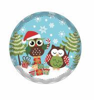 """Podložka pod hrnec """"Vánoční sova"""", keramika, kruh"""