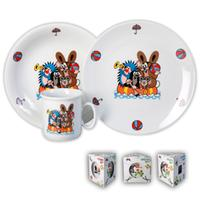 Dětská porcelánová jídelní sada THUN 3ks Krtek