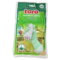 Gumové rukavice TORO aloe velikost M