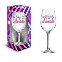 """Dárková sklenice na víno 600 ml, """"budoucí nevěsta"""""""