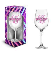 """Dárková sklenice na víno 600 ml, """"party girl"""""""