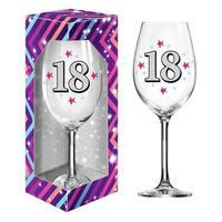 """Dárková sklenice na víno 600 ml, """"18"""""""