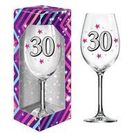 """Dárková sklenice na víno 600 ml, """"30"""""""