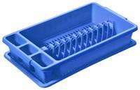 Plastový odkapávač s podnosem TONTARELLI 26,5x45cm modrý