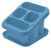 Plastový odkapávač na příbory s podnosem TONTARELLI modrý
