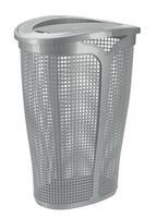 Plastový koš na špinavé prádlo TONTARELLI Ingrid 45l stříbrná