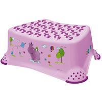 Dětská stolička Hippo, s protiskluzovým povrchem, růžová