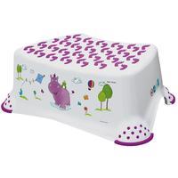 Dětská stolička Hippo, s protiskluzovým povrchem, bílá