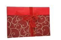 Vánoční papír balící 50x70cm + stuha 2m  assort