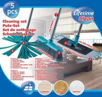 Set čistící - 2 x mop, 1 x smeták