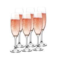 Sklenice na šampaňské LARA 220ml 6ks