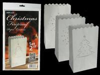 Lucerna vánoční, 2 ks, ohnivzdorný papír
