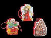 Papírová vánoční dárková taška 19x15cm assort