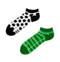 Kotníkové veselé ponožky DEDOLES fotbal 35-38