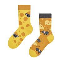 Dětské veselé ponožky DEDOLES sýr 27-30
