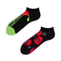 Kotníkové veselé ponožky DEDOLES divé máky 39-42