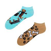 Kotníkové veselé ponožky DEDOLES jezevčík 35-38