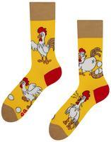 Veselé ponožky DEDOLES slepice nebo vejce 35-38