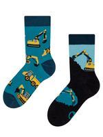 Dětské veselé ponožky DEDOLES bagr 31-34