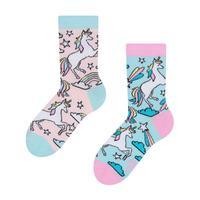Dětské veselé ponožky DEDOLES duhový jednorožec 27-30