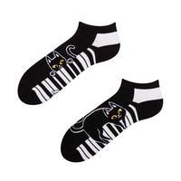 Kotníkové veselé ponožky DEDOLES kočka a klavír 35-38