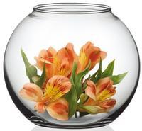 Váza skleněná koule Simax, pr. 21,5 cm, čirá