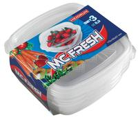 Plastová dóza HEIDRUN McFresh 3ks 0,9l