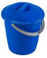 Plastový kbelík s víkem HEIDRUN 13 l