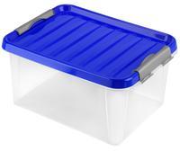 Plastový úložný box s víkem HEIDRUN Clip box 14l