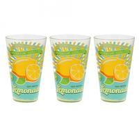 Sklenice longdrink 3 ks,  310 ml, citron