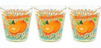 Sklenice na vodu 3 ks - 250 ml, pomeranč