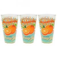 Sklenice longdrink 3 ks,  310 ml, pomeranč