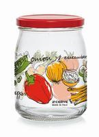 Zavařovací sklenice s víčkem CERVE 500ml zelenina