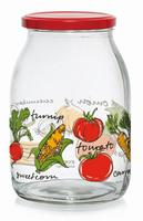 Zavařovací sklenice s víčkem CERVE 1l zelenina