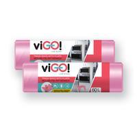 Pytle na odpad s uchy 60l VIGO set 2x18ks jahoda