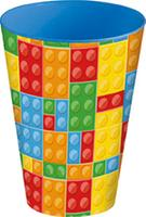 Plastový kelímek 430ml kostky