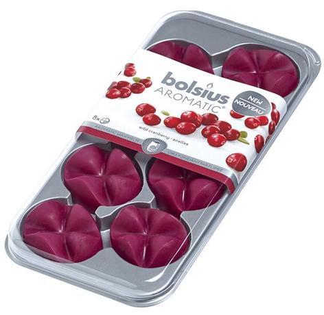 Levně Bolsius Vonný vosk Wild Cranberry 8 ks 80 g